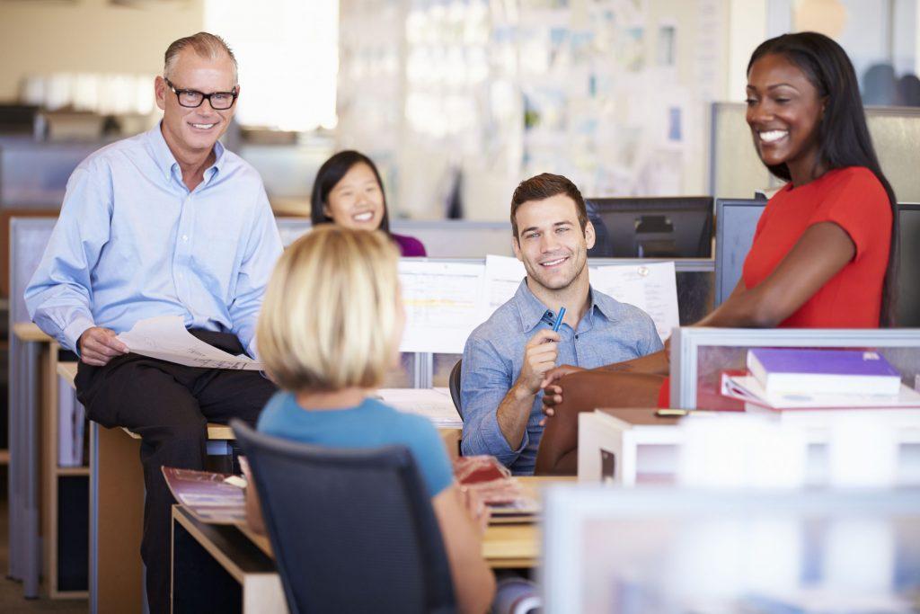 Businesspeople having meeting